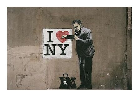 I Love NY - BANKSY from AUX BEAUX-ARTS, Prodi Art, Art photography, Giclée Art print, Prodi Art