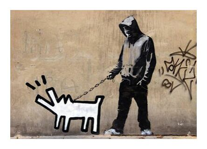 Dog - BANKSY from AUX BEAUX-ARTS, Prodi Art, Art photography, Giclée Art print, Prodi Art