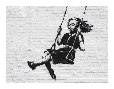 Girl on a Swing - BANKSY from AUX BEAUX-ARTS, Prodi Art, Art photography, Giclée Art print, Prodi Art