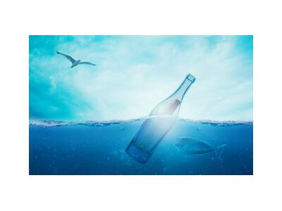A bottle in the sea from Pierre Gaultier, Prodi Art, Art photography, Giclée Art print, Standard frame sizes, Prodi Art