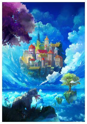 Un château dans le ciel from Sabatier Marie , Prodi Art, Art photography, Giclée Art print, Prodi Art