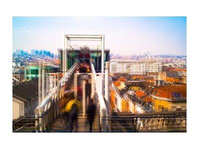 L'Ascenseur de Pierre Rousseau, Prodi Art, Photographie d'art, Impression d'art, Tailles de cadre standard, Prodi Art