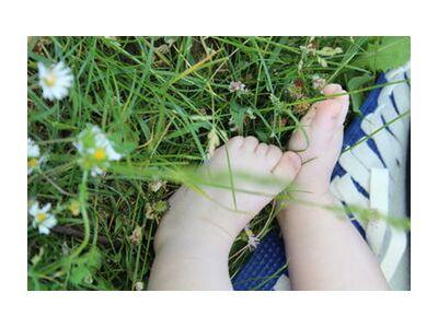 Petits pieds dans l'herbe de jenny buniet, Prodi Art, Photographie d'art, Impression d'art, Tailles de cadre standard, Prodi Art