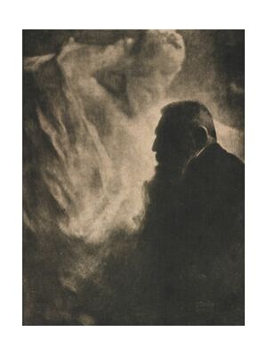 Portrait of Rodin. Photoengraving in Camera Work - Edward Steichen 1902 from Aux Beaux-Arts, VisionArt, Art photography, Art print, Standard frame sizes, Prodi Art