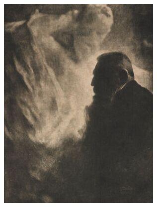 Portrait of Rodin. Photoengraving in Camera Work - Edward Steichen 1902 from Aux Beaux-Arts, Prodi Art, Art photography, Art print, Prodi Art