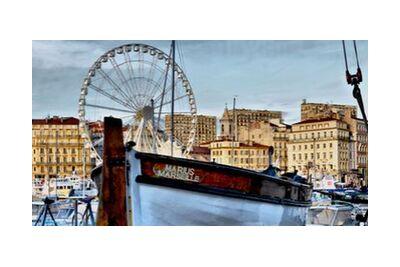 Marseille vieux port Marius de Frédéric Traversari, VisionArt, Photographie d'art, Impression d'art, Tailles de cadre standard, Prodi Art