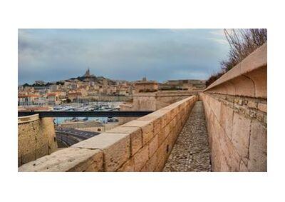 Marseille depuis le fort Saint Jean de Frédéric Traversari, VisionArt, Photographie d'art, Impression d'art, Tailles de cadre standard, Prodi Art