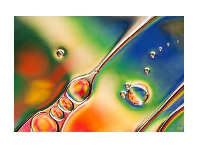 Oily bubbles #1 from Mickaël Weber, Prodi Art, Art photography, Giclée Art print, Standard frame sizes, Prodi Art