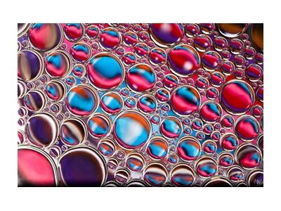 Oily bubbles #12 from Mickaël Weber, Prodi Art, Art photography, Giclée Art print, Standard frame sizes, Prodi Art