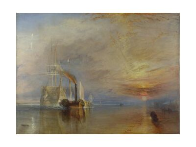 The Fighting Temeraire - WILLIAM TURNER 1883 from Aux Beaux-Arts, Prodi Art, Art photography, Art print, Standard frame sizes, Prodi Art