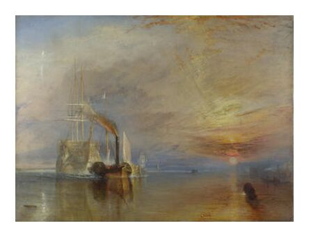 The Fighting Temeraire - WILLIAM TURNER 1883 from Aux Beaux-Arts, Prodi Art, Art photography, Art print, Prodi Art