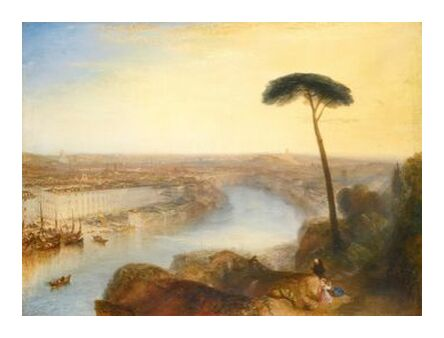 Rome, From Mount Aventine - WILLIAM TURNER 1835 from Aux Beaux-Arts, VisionArt, Art photography, Art print, Prodi Art