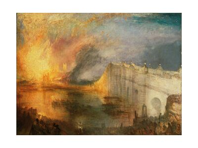 The Burning of the Houses of Lords and Commons - WILLIAM TURNER 1834 from Aux Beaux-Arts, VisionArt, Art photography, Art print, Standard frame sizes, Prodi Art