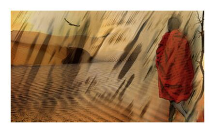 The march of Maasai from Adam da Silva, Prodi Art, Art photography, Giclée Art print, Prodi Art