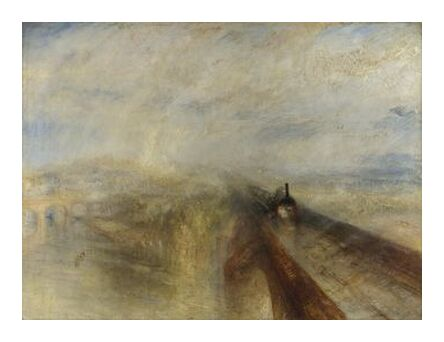 Rain, Steam and Speed – The Great Western Railway - WILLIAM TURNER 1844 from Aux Beaux-Arts, Prodi Art, Art photography, Art print, Prodi Art