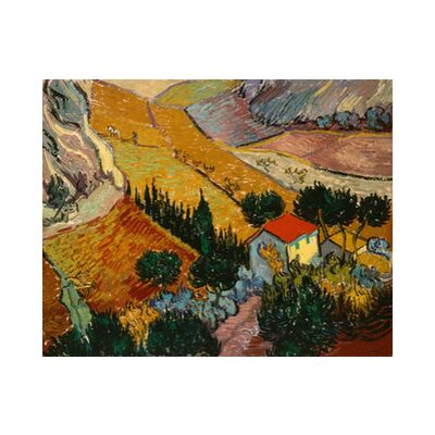 Landscape with House and Ploughman - VINCENT VAN GOGH 1889 from Aux Beaux-Arts, Prodi Art, Art photography, Art print, Standard frame sizes, Prodi Art