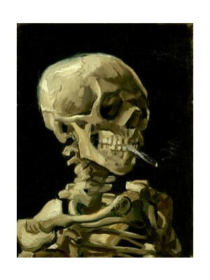 Head of a Skeleton with a Burning Cigarette - VINCENT VAN GOGH from Aux Beaux-Arts, Prodi Art, Art photography, Art print, Standard frame sizes, Prodi Art