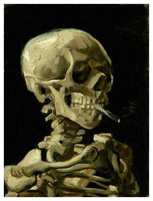 Head of a Skeleton with a Burn... from AUX BEAUX-ARTS, Prodi Art, Art photography, Giclée Art print, Prodi Art