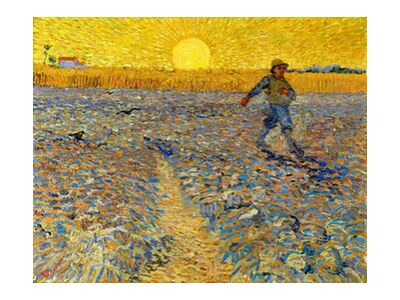 Sower at Sunset - VINCENT VAN GOGH 1888 from Aux Beaux-Arts, Prodi Art, Art photography, Art print, Standard frame sizes, Prodi Art