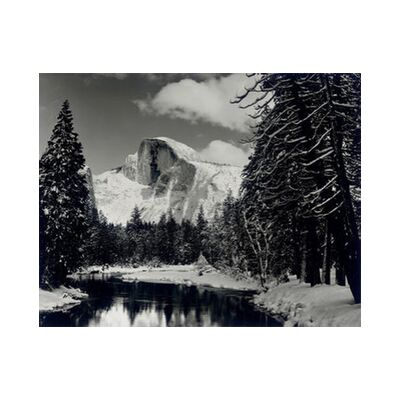 Half dome merced river winter Yosemite ANSEL ADAMS 1938 from Aux Beaux-Arts, Prodi Art, Art photography, Art print, Standard frame sizes, Prodi Art
