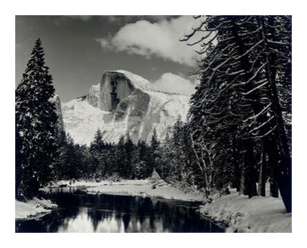 Half dome merced river winter ... from AUX BEAUX-ARTS, Prodi Art, Art photography, Giclée Art print, Prodi Art