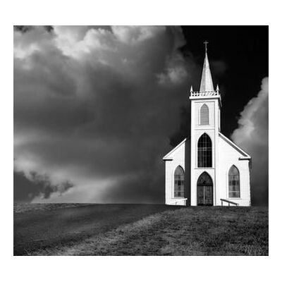 Church picture, ANSEL ADAMS - 1937 from Aux Beaux-Arts, VisionArt, Art photography, Art print, Standard frame sizes, Prodi Art