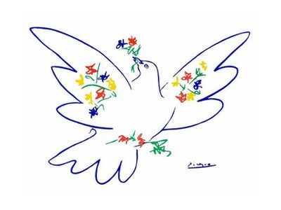 Dove of peace - PABLO ICASSO from Aux Beaux-Arts, VisionArt, Art photography, Art print, Standard frame sizes, Prodi Art