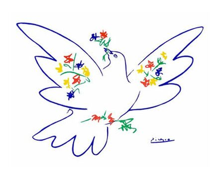 Dove of peace - PABLO ICASSO from Aux Beaux-Arts, VisionArt, Art photography, Art print, Prodi Art