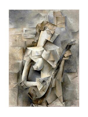 Girl with a Mandolin - Pablo Picasso 1910 from Aux Beaux-Arts, VisionArt, Art photography, Art print, Standard frame sizes, Prodi Art