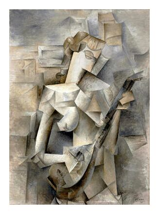 Girl with a Mandolin - Pablo Picasso 1910 from Aux Beaux-Arts, Prodi Art, Art photography, Art print, Prodi Art