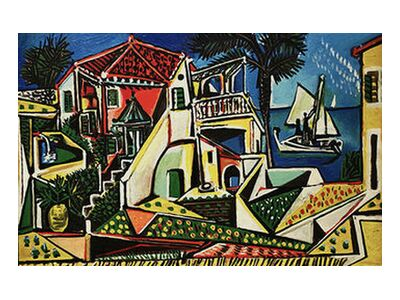 Mediterranean Landscape - PABLO PICASSO from Aux Beaux-Arts, VisionArt, Art photography, Art print, Standard frame sizes, Prodi Art