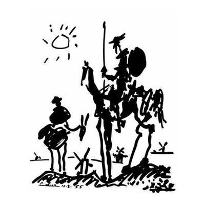 Don Quixote - PABLO PICASSO from AUX BEAUX-ARTS, Prodi Art, Art photography, Giclée Art print, Standard frame sizes, Prodi Art