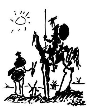 Don Quixote - PABLO PICASSO from AUX BEAUX-ARTS, Prodi Art, Art photography, Giclée Art print, Prodi Art