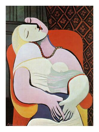 The dream - PABLO PICASSO from Aux Beaux-Arts, Prodi Art, Art photography, Art print, Prodi Art