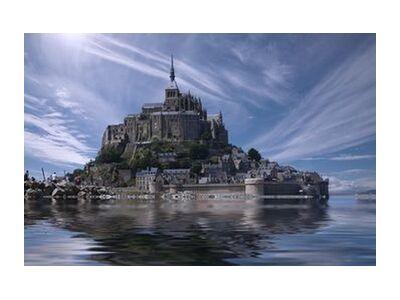 Le Mont-Saint-Michel from Aliss ART, VisionArt, Art photography, Art print, Standard frame sizes, Prodi Art