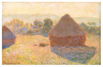 Haystacks, middle of the day - CLAUDE MONET 1891 from Aux Beaux-Arts, Prodi Art, Art photography, Art print, Prodi Art