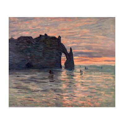 Sunset in Etretat - CLAUDE MONET 1883 from Aux Beaux-Arts, VisionArt, Art photography, Art print, Standard frame sizes, Prodi Art