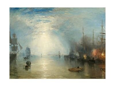 Keelmen Heaving in Coals by Moonlight - WILLIAM TURNER 1835 from Aux Beaux-Arts, VisionArt, Art photography, Art print, Standard frame sizes, Prodi Art