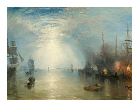 Keelmen Heaving in Coals by Moonlight - WILLIAM TURNER 1835 from Aux Beaux-Arts, Prodi Art, Art photography, Art print, Prodi Art
