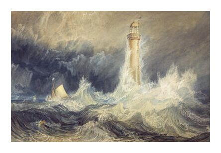 Bell Rock Lighthouse - WILLIAM TURNER 1824 from Aux Beaux-Arts, Prodi Art, Art photography, Art print, Prodi Art