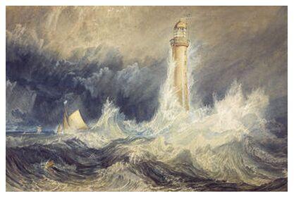 Bell Rock Lighthouse - WILLIAM TURNER 1824 from Aux Beaux-Arts, VisionArt, Art photography, Art print, Prodi Art